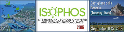 ISOPHOS 2016 - International School on Hybrid and Organic Photovoltaics logo